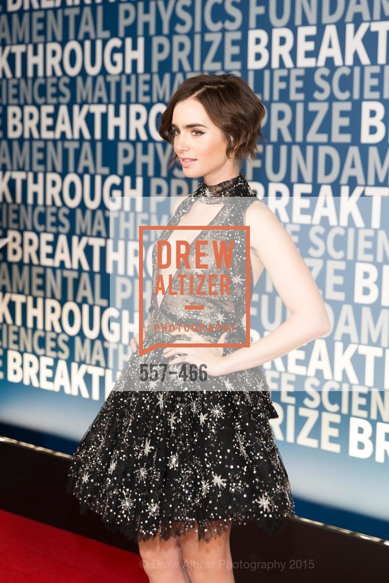 Lily Collins, THE BREAKTHROUGH PRIZE Hosted By Seth MacFarlane, Ames Research Center. Naval Air Station, Moffett Field, November 8th, 2015,Drew Altizer, Drew Altizer Photography, full-service agency, private events, San Francisco photographer, photographer california