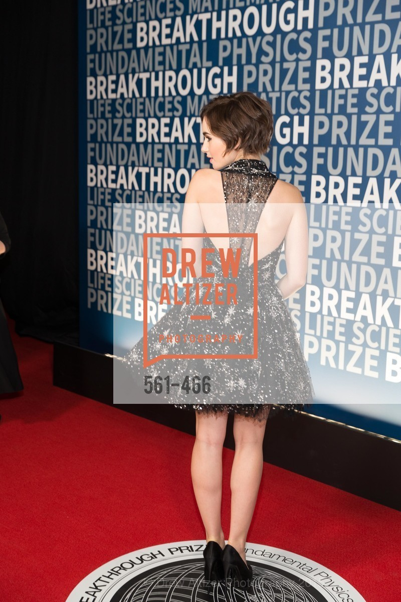 Lily Collins, THE BREAKTHROUGH PRIZE Hosted By Seth MacFarlane, Ames Research Center. Naval Air Station, Moffett Field, November 8th, 2015,Drew Altizer, Drew Altizer Photography, full-service event agency, private events, San Francisco photographer, photographer California