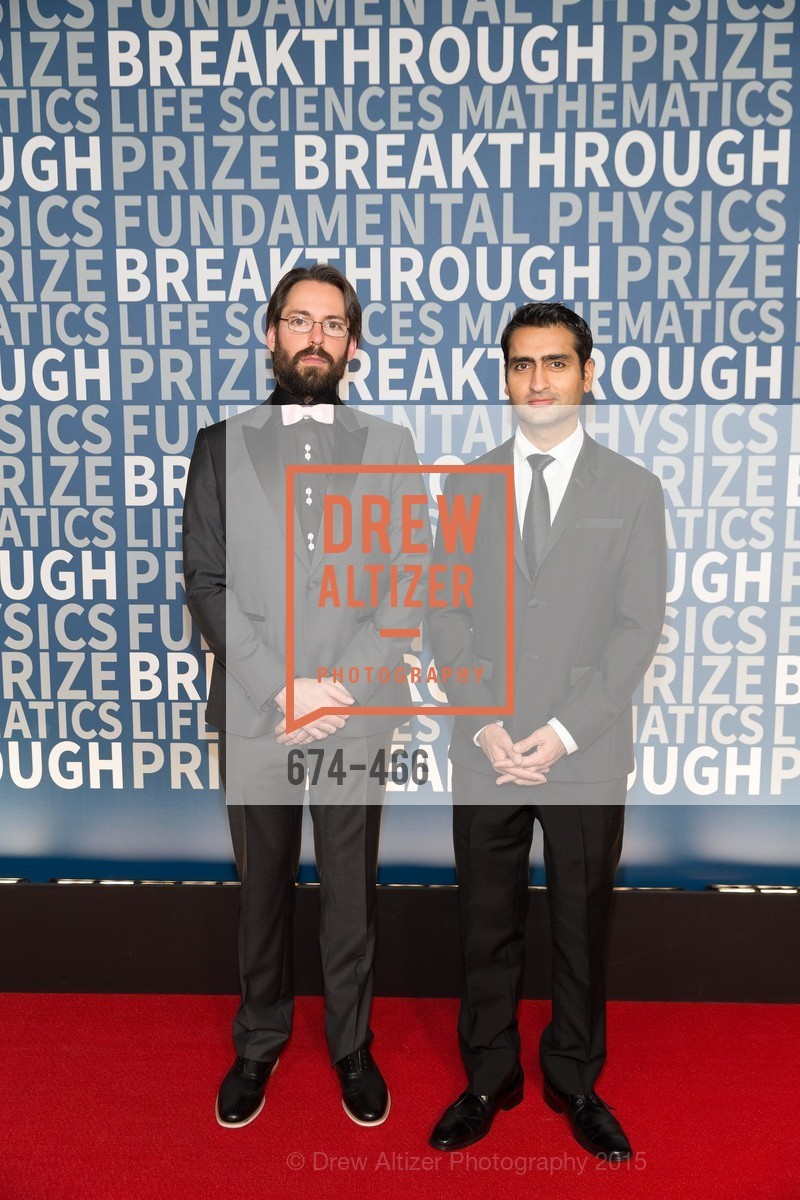 Martin Starr, Kumail Nanjiani, THE BREAKTHROUGH PRIZE Hosted By Seth MacFarlane, Ames Research Center. Naval Air Station, Moffett Field, November 8th, 2015,Drew Altizer, Drew Altizer Photography, full-service agency, private events, San Francisco photographer, photographer california