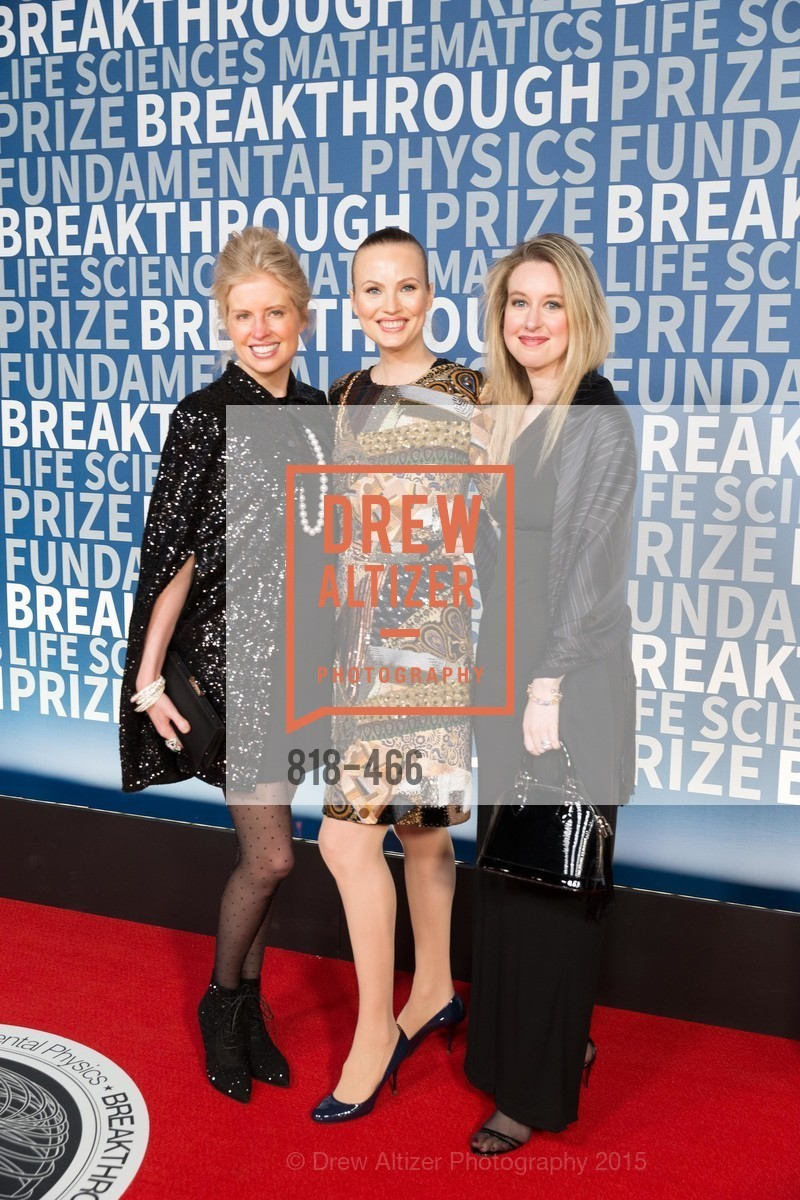 Laura Arrillaga-Andreessen, Julia Milner, Elizaberth Holmes, THE BREAKTHROUGH PRIZE Hosted By Seth MacFarlane, Ames Research Center. Naval Air Station, Moffett Field, November 8th, 2015,Drew Altizer, Drew Altizer Photography, full-service agency, private events, San Francisco photographer, photographer california