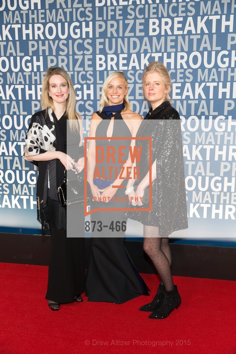 Elizaberth Holmes, Lucy Page, Laura Arrillaga-Andreessen, THE BREAKTHROUGH PRIZE Hosted By Seth MacFarlane, Ames Research Center. Naval Air Station, Moffett Field, November 8th, 2015