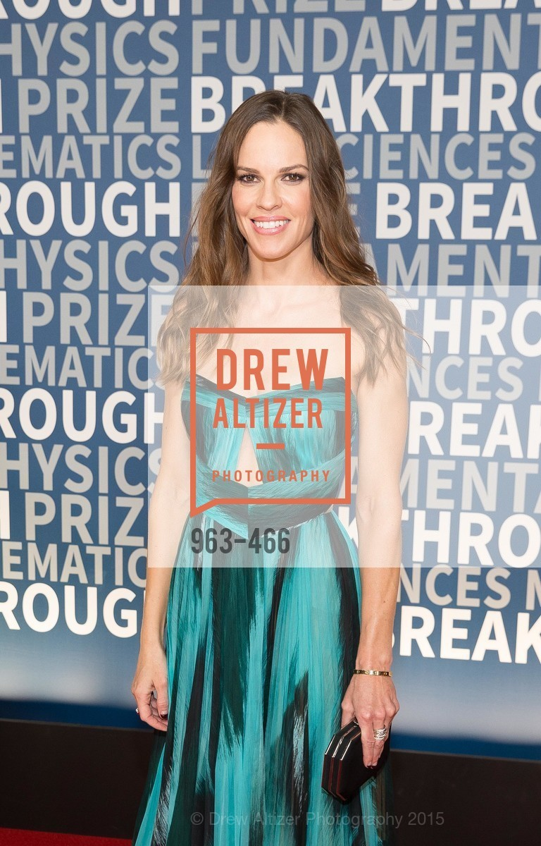 Hilary Swank, THE BREAKTHROUGH PRIZE Hosted By Seth MacFarlane, Ames Research Center. Naval Air Station, Moffett Field, November 8th, 2015
