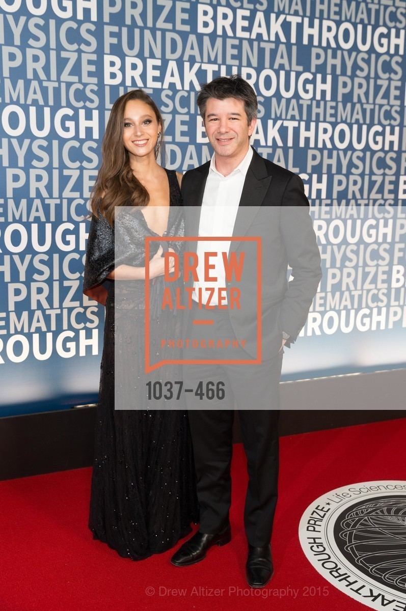 Gabi Holzwarth, Travis Kalanick, THE BREAKTHROUGH PRIZE Hosted By Seth MacFarlane, Ames Research Center. Naval Air Station, Moffett Field, November 8th, 2015,Drew Altizer, Drew Altizer Photography, full-service agency, private events, San Francisco photographer, photographer california