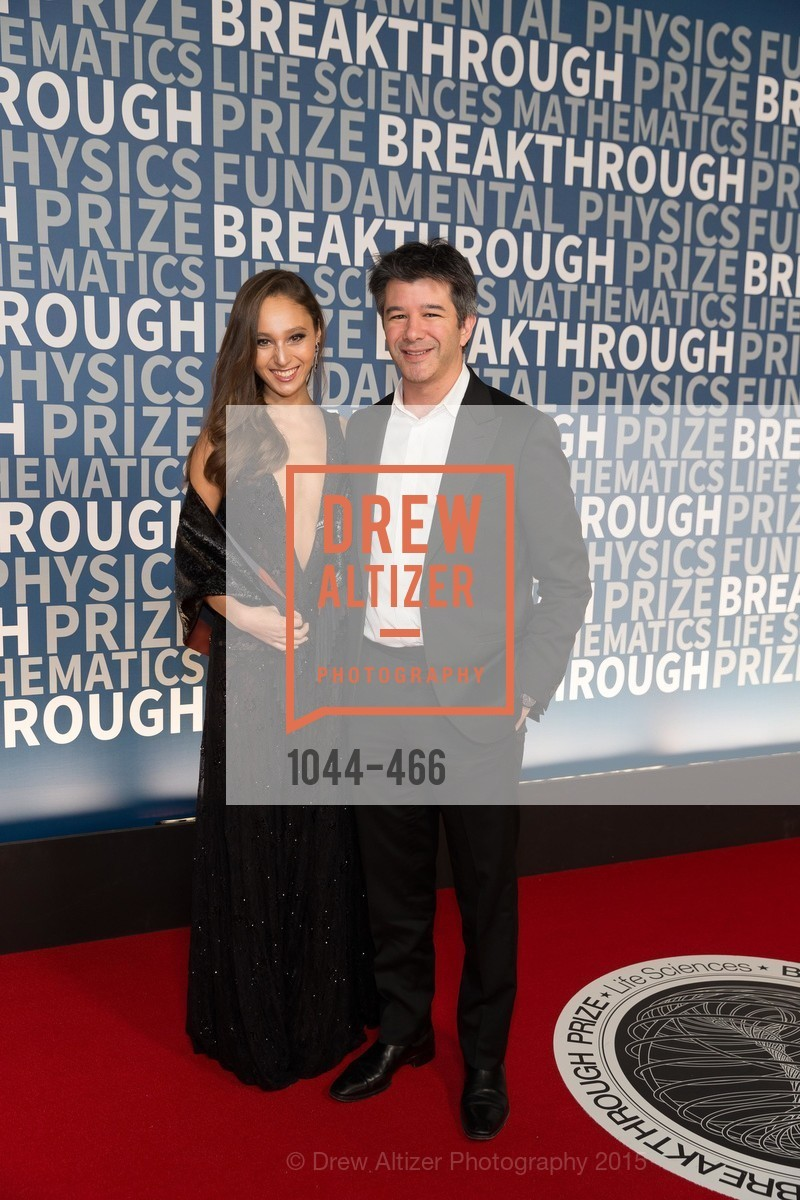 Gabi Holzwarth, Travis Kalanick, THE BREAKTHROUGH PRIZE Hosted By Seth MacFarlane, Ames Research Center. Naval Air Station, Moffett Field, November 8th, 2015,Drew Altizer, Drew Altizer Photography, full-service event agency, private events, San Francisco photographer, photographer California