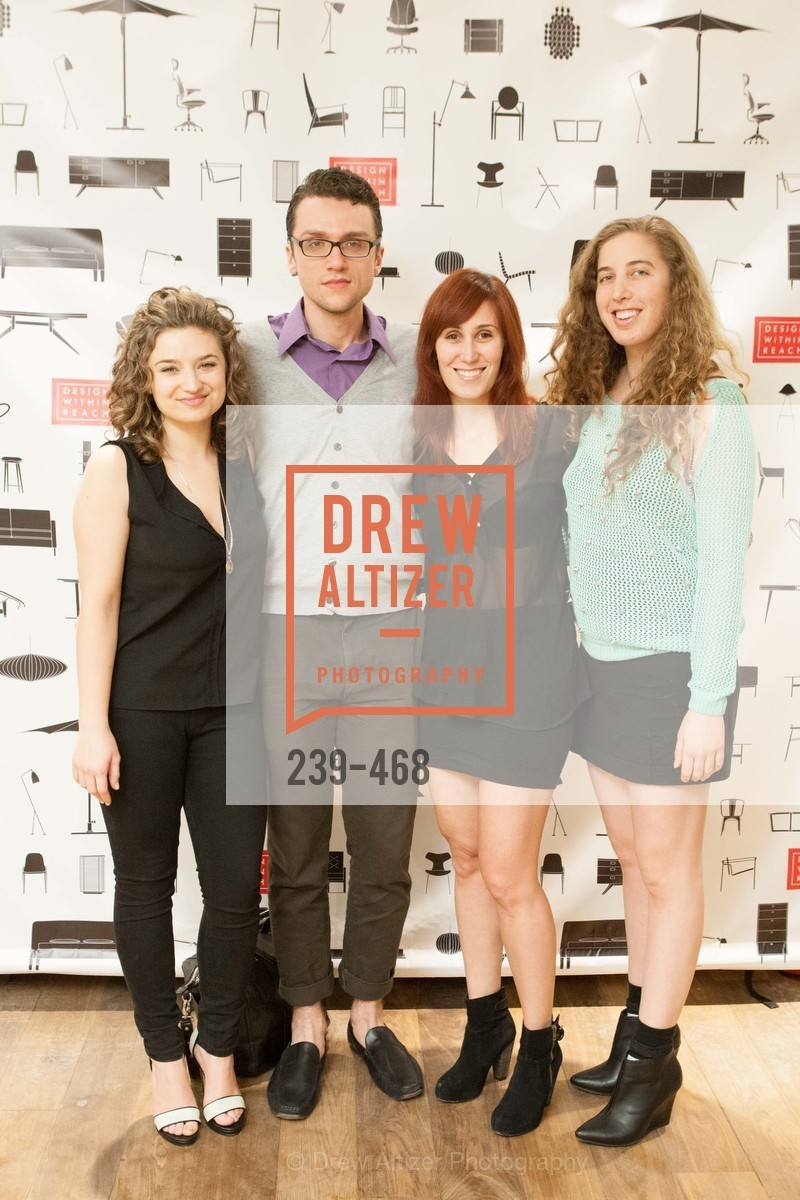 Becky Uma, Casey Tepp, Rachel Cherwitz, Leah Medelson, DESIGN WITHIN REACH Studio Opening, US. US, January 21st, 2014,Drew Altizer, Drew Altizer Photography, full-service agency, private events, San Francisco photographer, photographer california