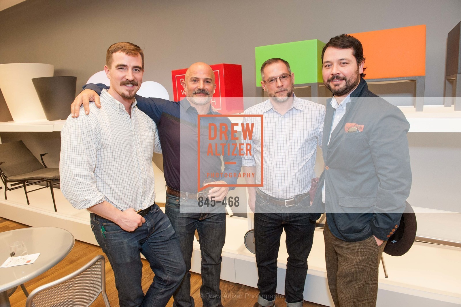 Brewster McCall, Laith Sayigh, Tom Thomas, Brandon Hernandez, DESIGN WITHIN REACH Studio Opening, US. US, January 21st, 2014,Drew Altizer, Drew Altizer Photography, full-service agency, private events, San Francisco photographer, photographer california