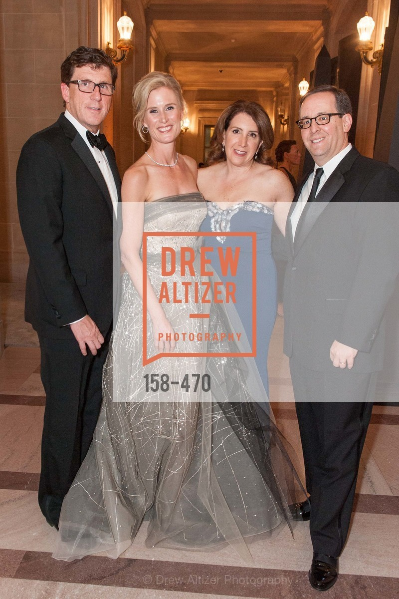 Michael Mauze, Alison Mauze, Julie Singer, Noel Singer, SAN FRANCISCO BALLET Opening Night Gala: PHENOMENAL - Arrivals, US. SF City Hall, January 22nd, 2014,Drew Altizer, Drew Altizer Photography, full-service agency, private events, San Francisco photographer, photographer california