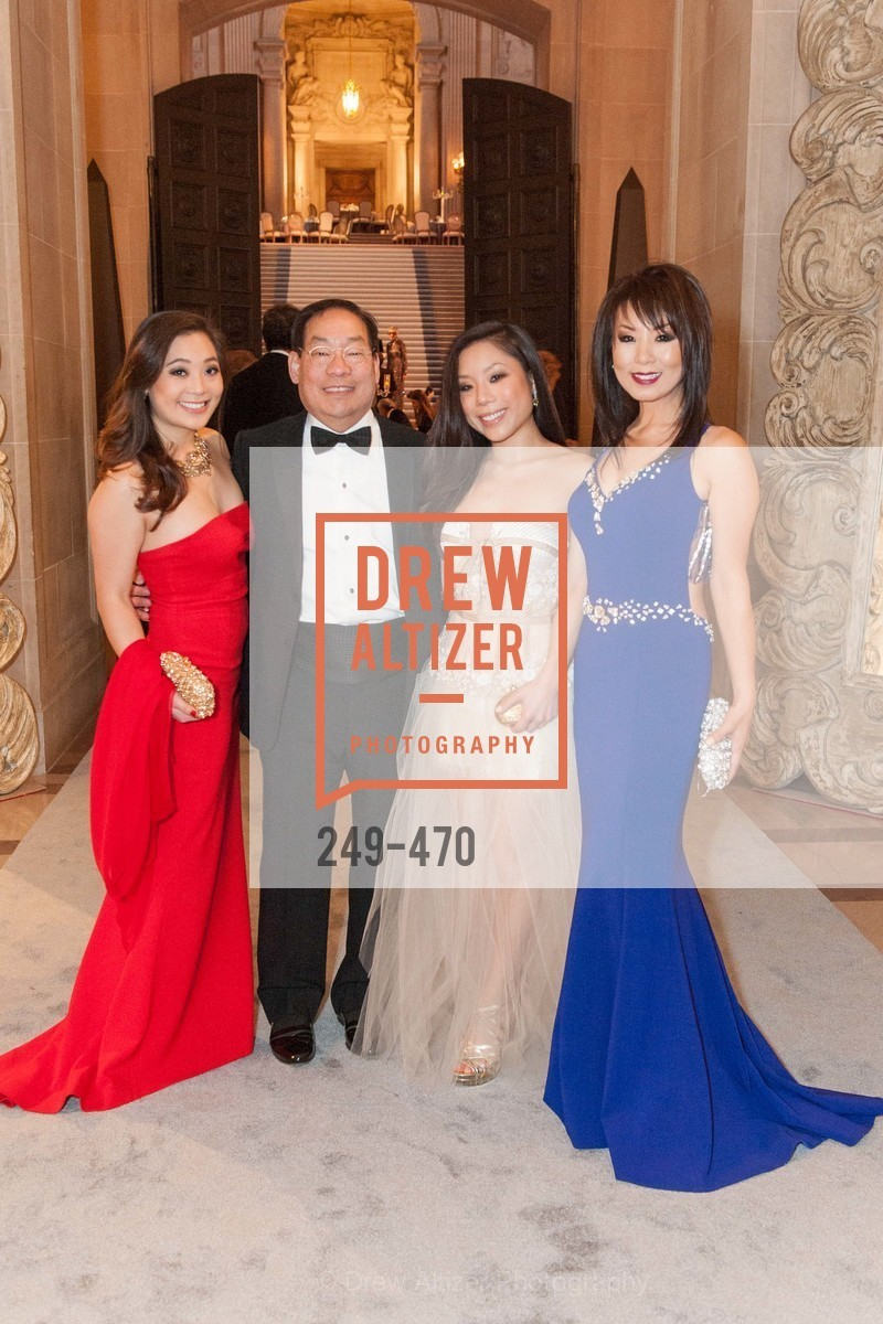 Kelsey Lee, Edward Lee, Kristen Lee, Jennifer Lee, SAN FRANCISCO BALLET Opening Night Gala: PHENOMENAL - Arrivals, US. SF City Hall, January 22nd, 2014,Drew Altizer, Drew Altizer Photography, full-service agency, private events, San Francisco photographer, photographer california
