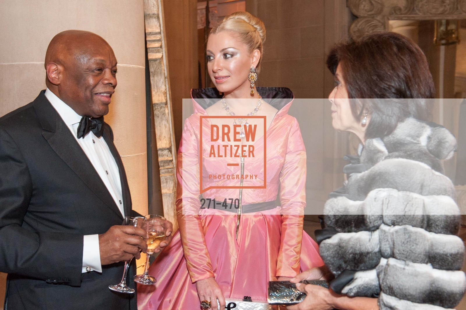 Willie Brown, Sonya Molodetskaya, Julie Waller, SAN FRANCISCO BALLET Opening Night Gala: PHENOMENAL - Arrivals, US. SF City Hall, January 22nd, 2014,Drew Altizer, Drew Altizer Photography, full-service event agency, private events, San Francisco photographer, photographer California