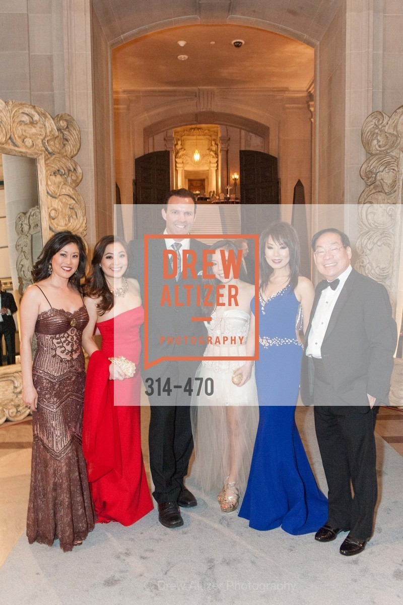 Kristi Yamaguchi, Kelsey Lee, Bret Hedican, Kristen Lee, Jennifer Lee, Edward Lee, SAN FRANCISCO BALLET Opening Night Gala: PHENOMENAL - Arrivals, US. SF City Hall, January 22nd, 2014,Drew Altizer, Drew Altizer Photography, full-service agency, private events, San Francisco photographer, photographer california