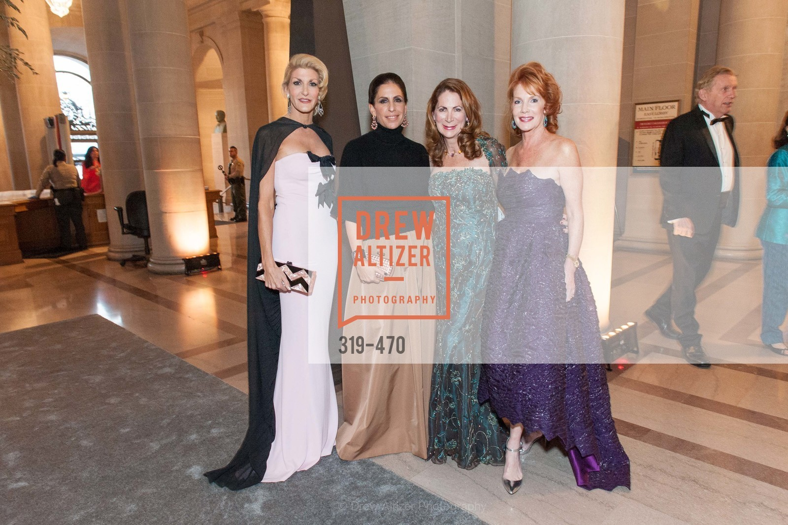Karen Caldwell, Lisa Grotts, Patricia Ferrin Loucks, Maureen Herr, SAN FRANCISCO BALLET Opening Night Gala: PHENOMENAL - Arrivals, US. SF City Hall, January 22nd, 2014,Drew Altizer, Drew Altizer Photography, full-service agency, private events, San Francisco photographer, photographer california
