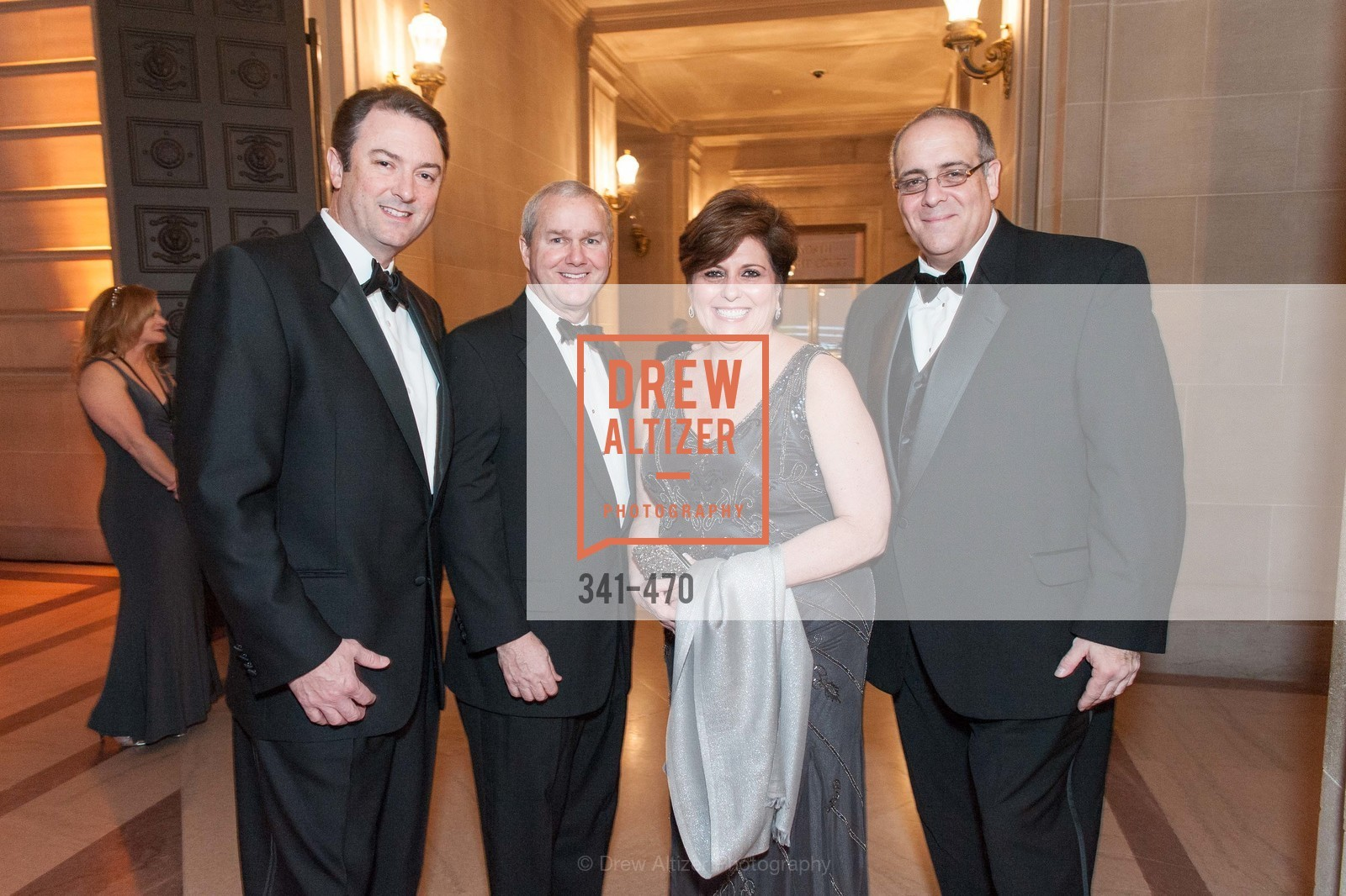 Mark Pittsey, Gerald Joyce, Laurie Wojcik, Jose Rasco, SAN FRANCISCO BALLET Opening Night Gala: PHENOMENAL - Arrivals, US. SF City Hall, January 22nd, 2014,Drew Altizer, Drew Altizer Photography, full-service event agency, private events, San Francisco photographer, photographer California