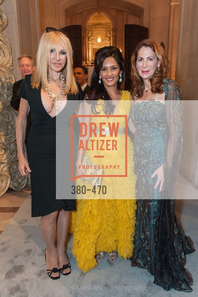Elisabeth Laurence, Komal Shah, Patricia Ferrin Loucks, SAN FRANCISCO BALLET Opening Night Gala: PHENOMENAL - Arrivals, US. SF City Hall, January 22nd, 2014,Drew Altizer, Drew Altizer Photography, full-service agency, private events, San Francisco photographer, photographer california