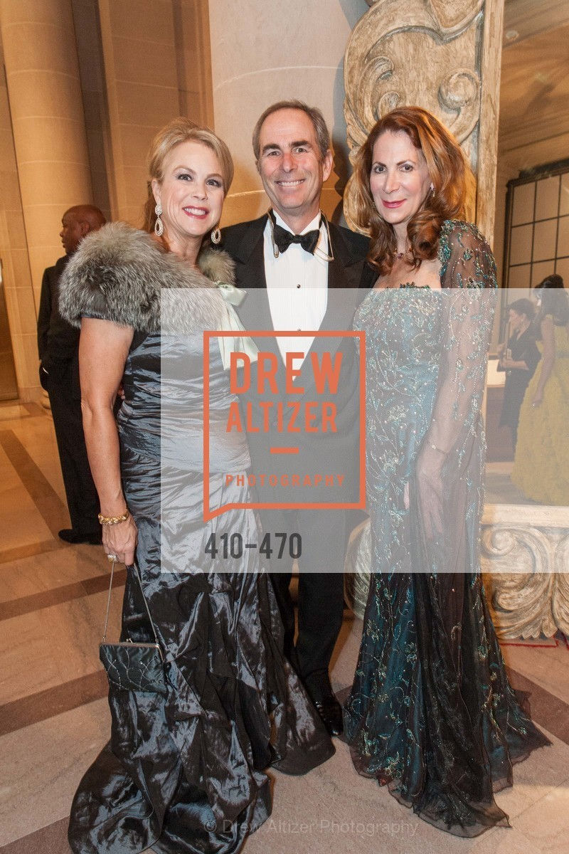Nonie Green, Todd Werby, Patricia Ferrin Loucks, SAN FRANCISCO BALLET Opening Night Gala: PHENOMENAL - Arrivals, US. SF City Hall, January 22nd, 2014,Drew Altizer, Drew Altizer Photography, full-service agency, private events, San Francisco photographer, photographer california
