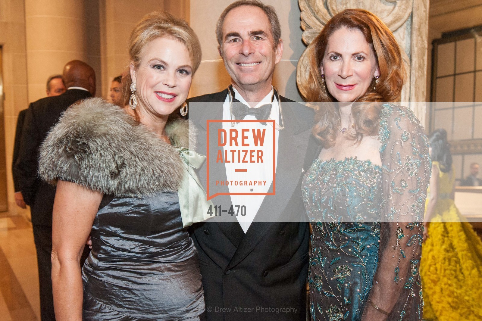Nonie Greene, Todd Werby, Patricia Ferrin Loucks, SAN FRANCISCO BALLET Opening Night Gala: PHENOMENAL - Arrivals, US. SF City Hall, January 22nd, 2014,Drew Altizer, Drew Altizer Photography, full-service agency, private events, San Francisco photographer, photographer california