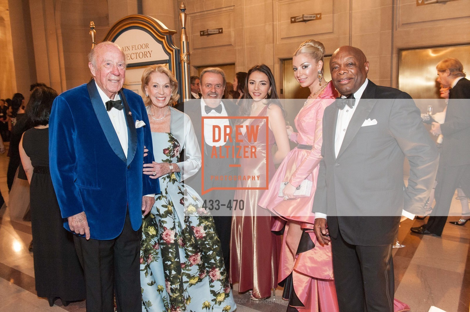 George Shultz, Charlotte Shultz, Sonya Molodetskaya, Willie Brown, SAN FRANCISCO BALLET Opening Night Gala: PHENOMENAL - Arrivals, US. SF City Hall, January 22nd, 2014,Drew Altizer, Drew Altizer Photography, full-service event agency, private events, San Francisco photographer, photographer California