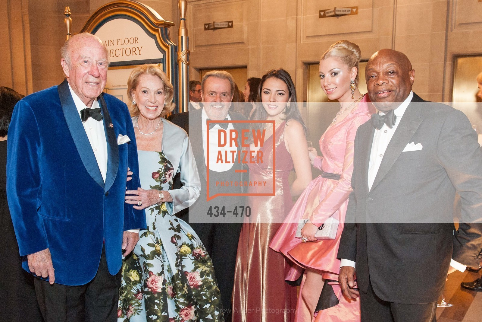 George Shultz, Charlotte Shultz, Sonya Molodetskaya, Willie Brown, SAN FRANCISCO BALLET Opening Night Gala: PHENOMENAL - Arrivals, US. SF City Hall, January 22nd, 2014,Drew Altizer, Drew Altizer Photography, full-service agency, private events, San Francisco photographer, photographer california