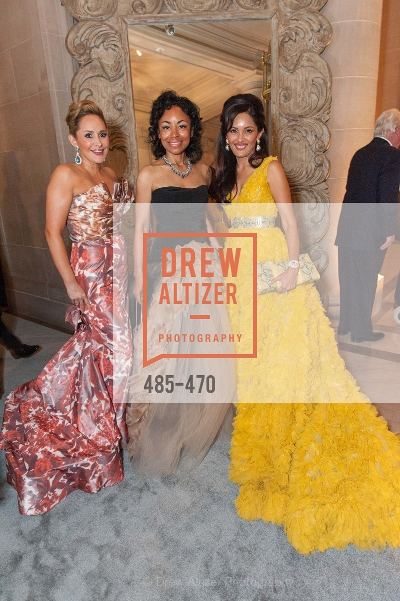 Brenda Zarate, Tanya Powell, Komal Shah, SAN FRANCISCO BALLET Opening Night Gala: PHENOMENAL - Arrivals, US. SF City Hall, January 22nd, 2014,Drew Altizer, Drew Altizer Photography, full-service agency, private events, San Francisco photographer, photographer california