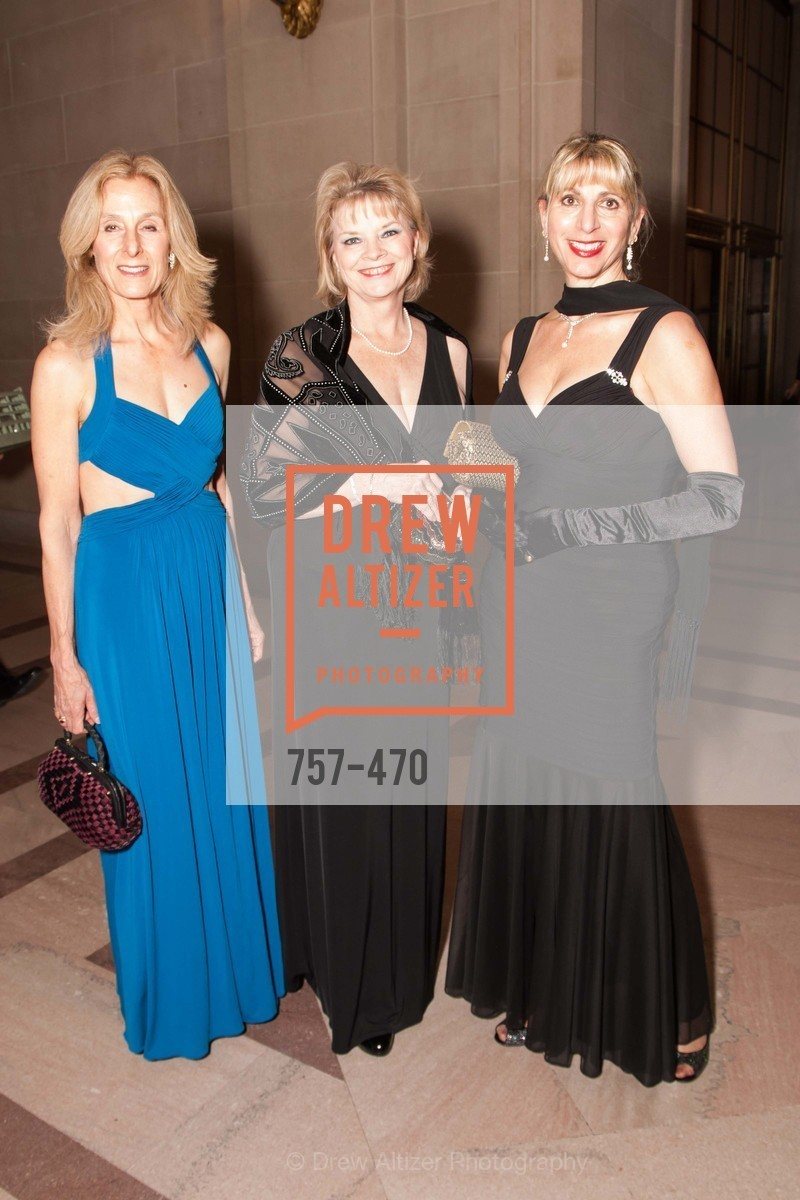 Marjorie Ammon, Margaret Berch, JoAn Smith, SAN FRANCISCO BALLET Opening Night Gala: PHENOMENAL - Arrivals, US. SF City Hall, January 22nd, 2014,Drew Altizer, Drew Altizer Photography, full-service agency, private events, San Francisco photographer, photographer california