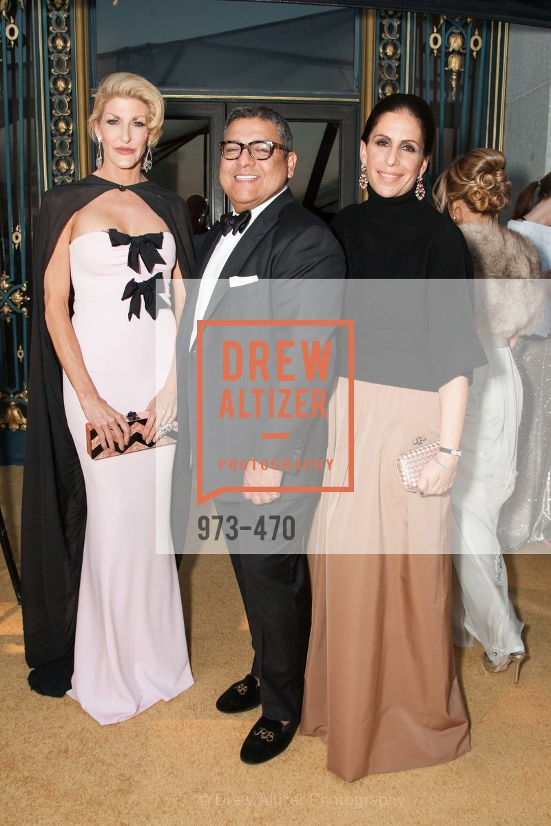 Karen Caldwell, Riccardo Benavides, Lisa Grotts, SAN FRANCISCO BALLET Opening Night Gala: PHENOMENAL - Arrivals, US. SF City Hall, January 22nd, 2014,Drew Altizer, Drew Altizer Photography, full-service agency, private events, San Francisco photographer, photographer california