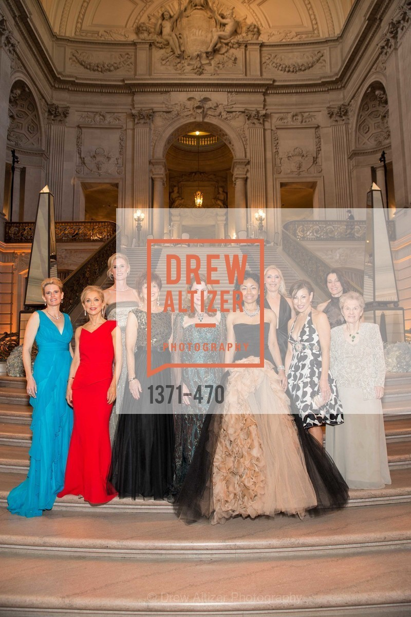 Marie Hurabiell, Shelley Gordon, Alison Mauze, Suzanne Thornton, Patricia Ferrin Loucks, Tanya Powell, Betsy Linder, Cathy Goodman, Debra Taylor, SAN FRANCISCO BALLET Opening Night Gala: PHENOMENAL - Arrivals, US. SF City Hall, January 22nd, 2014