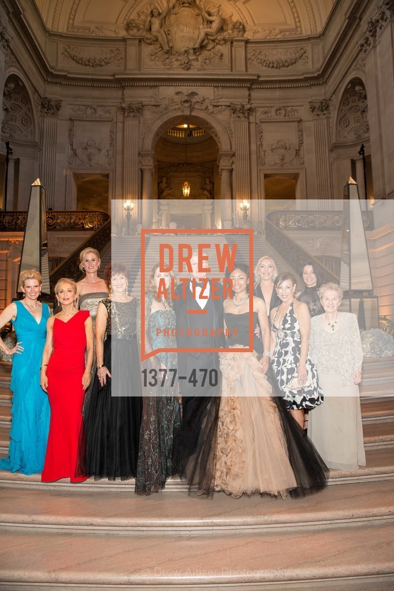 Marie Hurabiell, Shelley Gordon, Alison Mauze, Suzanne Thornton, Patricia Ferrin Loucks, Tanya Powell, Betsy Linder, Cathy Goodman, Debra Taylor, SAN FRANCISCO BALLET Opening Night Gala: PHENOMENAL - Arrivals, US. SF City Hall, January 22nd, 2014,Drew Altizer, Drew Altizer Photography, full-service agency, private events, San Francisco photographer, photographer california