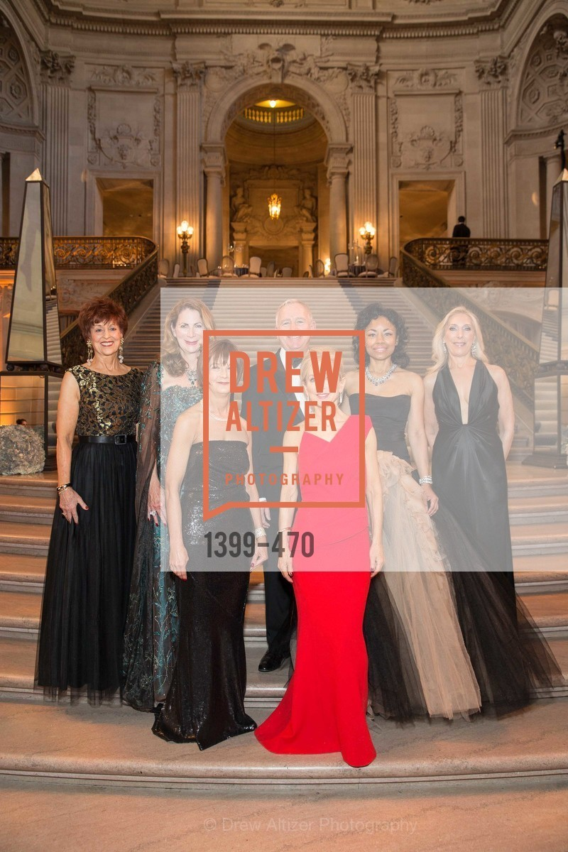 Suzanne Thornton, Patricia Ferrin Loucks, Debra Bernard, Glenn McCoy, Shelley Gordon, Tanya Powell, Betsy Linder, SAN FRANCISCO BALLET Opening Night Gala: PHENOMENAL - Arrivals, US. SF City Hall, January 22nd, 2014,Drew Altizer, Drew Altizer Photography, full-service agency, private events, San Francisco photographer, photographer california
