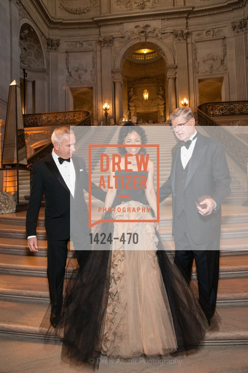 Glenn McCoy, Tanya Powell, Richard Barker, SAN FRANCISCO BALLET Opening Night Gala: PHENOMENAL - Arrivals, US. SF City Hall, January 22nd, 2014