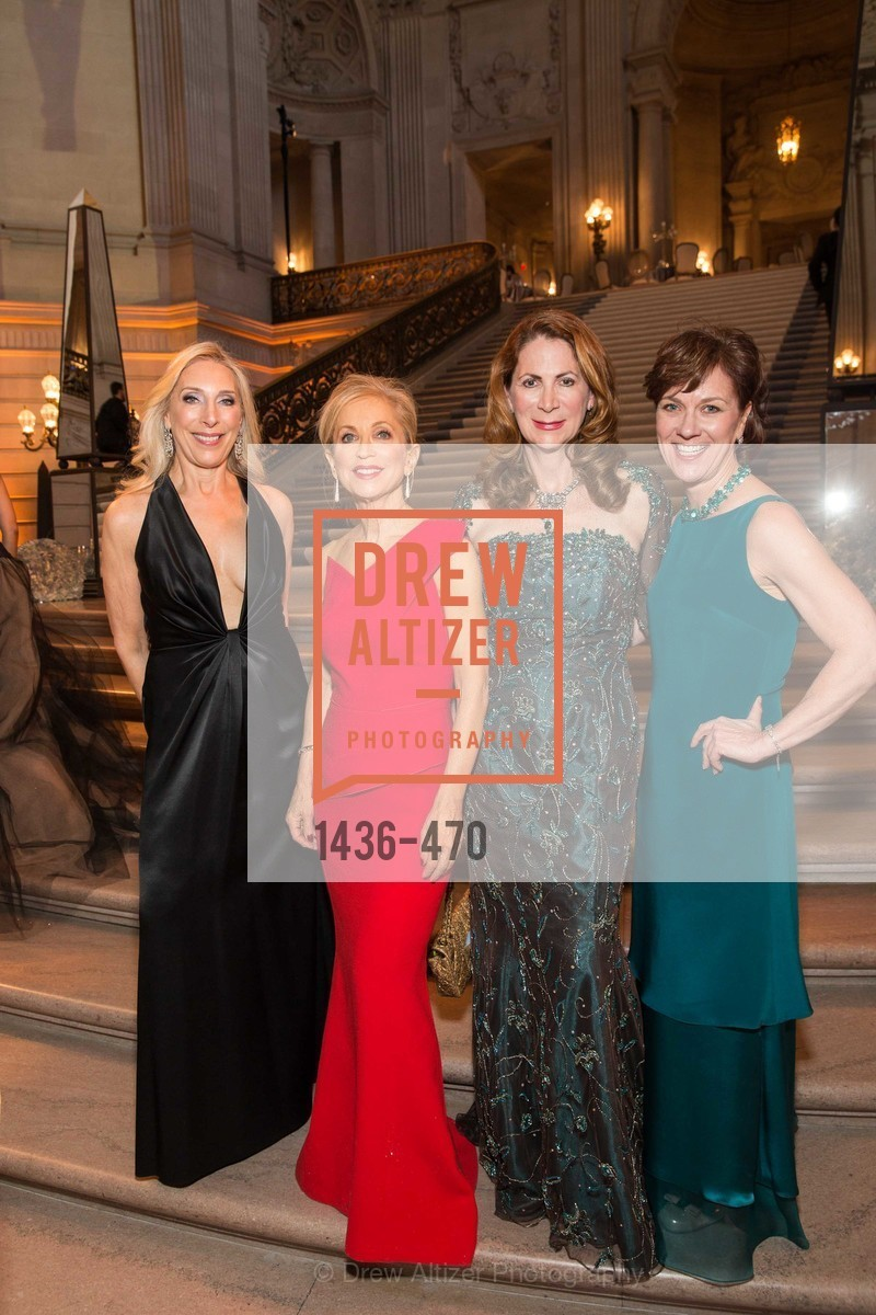 Betsy Linder, Shelley Gordon, Patricia Ferrin Loucks Lee Gregory, SAN FRANCISCO BALLET Opening Night Gala: PHENOMENAL - Arrivals, US. SF City Hall, January 22nd, 2014,Drew Altizer, Drew Altizer Photography, full-service agency, private events, San Francisco photographer, photographer california