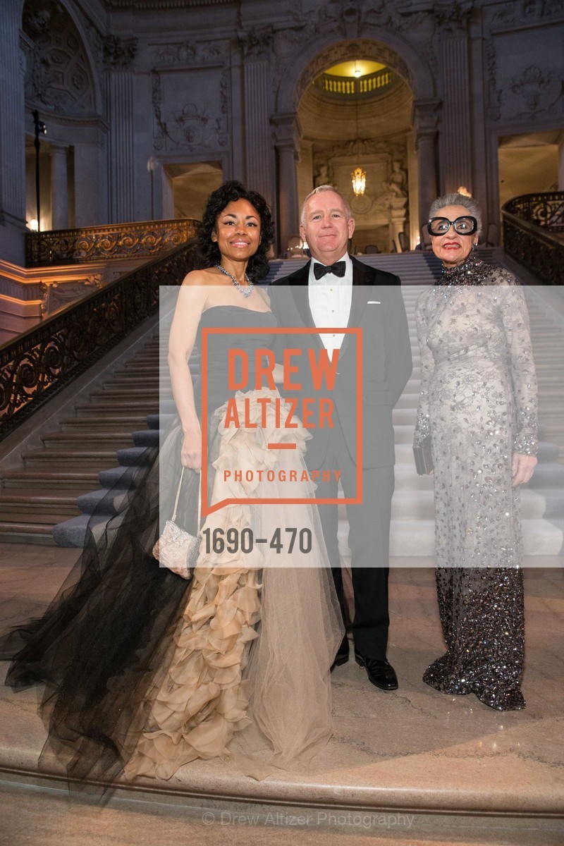 Tanya Powell, Glenn McCoy, Joy Venturini Bianchi, SAN FRANCISCO BALLET Opening Night Gala: PHENOMENAL - Arrivals, US. SF City Hall, January 22nd, 2014,Drew Altizer, Drew Altizer Photography, full-service agency, private events, San Francisco photographer, photographer california