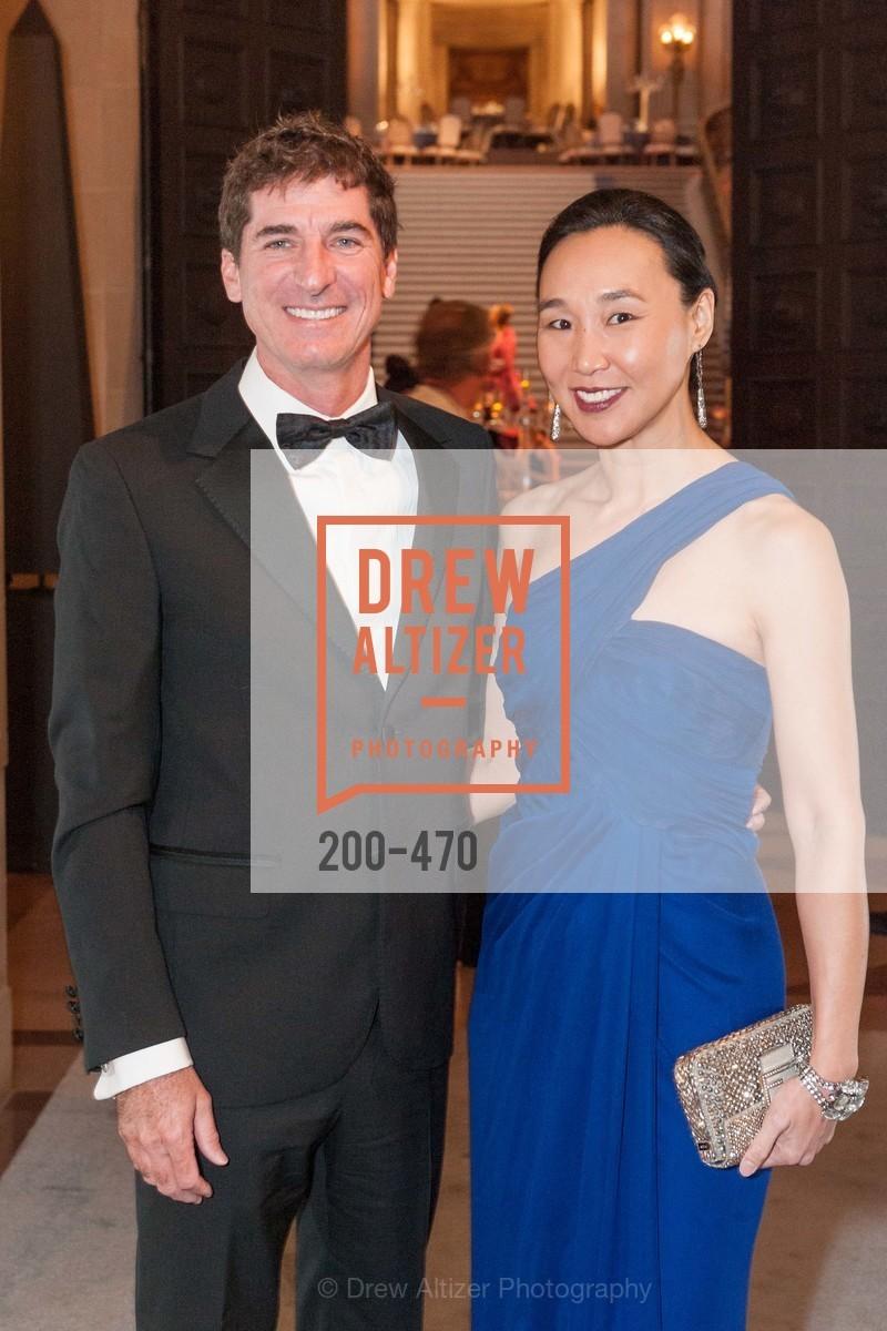 Patrick King, Carolyn Chang, SAN FRANCISCO BALLET Opening Night Gala: PHENOMENAL - Arrivals, US. SF City Hall, January 22nd, 2014
