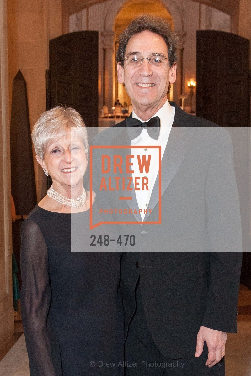 Nancy Livingston, Fred Levin, SAN FRANCISCO BALLET Opening Night Gala: PHENOMENAL - Arrivals, US. SF City Hall, January 22nd, 2014,Drew Altizer, Drew Altizer Photography, full-service event agency, private events, San Francisco photographer, photographer California