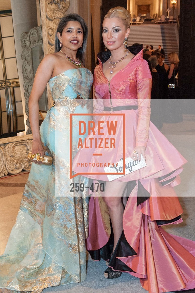 Deepa Pakianathan, Sonya Molodetskaya, SAN FRANCISCO BALLET Opening Night Gala: PHENOMENAL - Arrivals, US. SF City Hall, January 22nd, 2014,Drew Altizer, Drew Altizer Photography, full-service agency, private events, San Francisco photographer, photographer california