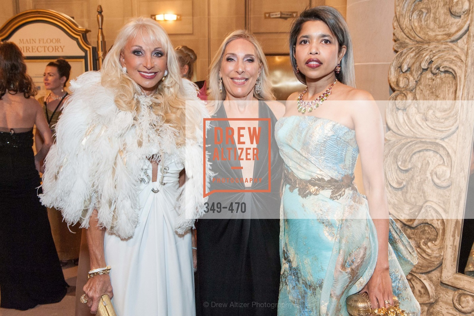 Daru Kawalkowski, Betsy Linder, Deepa Pakianathan, SAN FRANCISCO BALLET Opening Night Gala: PHENOMENAL - Arrivals, US. SF City Hall, January 22nd, 2014,Drew Altizer, Drew Altizer Photography, full-service agency, private events, San Francisco photographer, photographer california