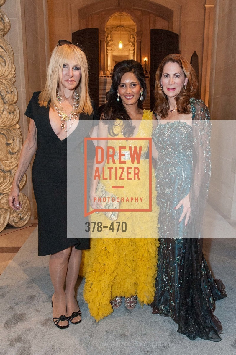 Elisabeth Lawrence, Komal Shah, Patricia Ferrin Loucks, SAN FRANCISCO BALLET Opening Night Gala: PHENOMENAL - Arrivals, US. SF City Hall, January 22nd, 2014,Drew Altizer, Drew Altizer Photography, full-service event agency, private events, San Francisco photographer, photographer California