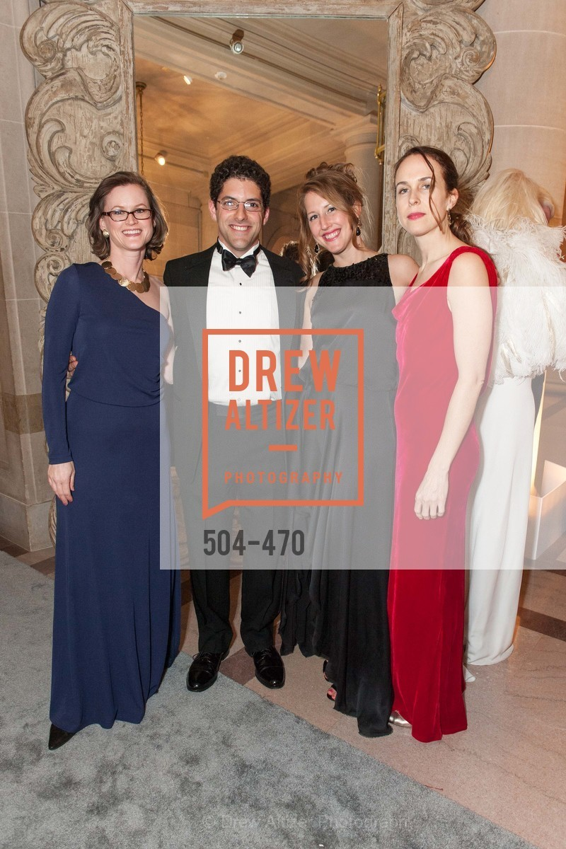 Lucy Daswani, Jonathan Levin, Sarah Malashock, Pamela Sullivan, SAN FRANCISCO BALLET Opening Night Gala: PHENOMENAL - Arrivals, US. SF City Hall, January 22nd, 2014,Drew Altizer, Drew Altizer Photography, full-service agency, private events, San Francisco photographer, photographer california
