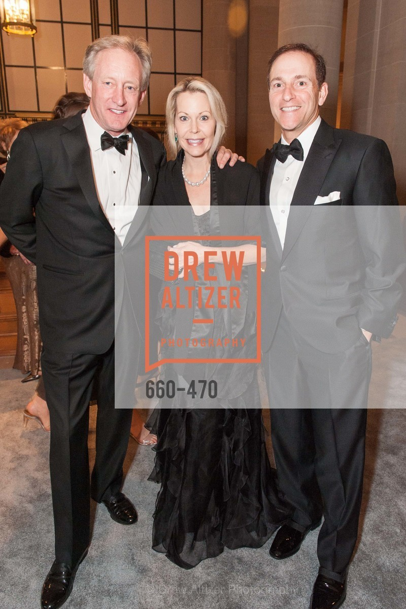 Kurt Mobley, Lisa Lenzo, Chris Lenzo, SAN FRANCISCO BALLET Opening Night Gala: PHENOMENAL - Arrivals, US. SF City Hall, January 22nd, 2014,Drew Altizer, Drew Altizer Photography, full-service agency, private events, San Francisco photographer, photographer california