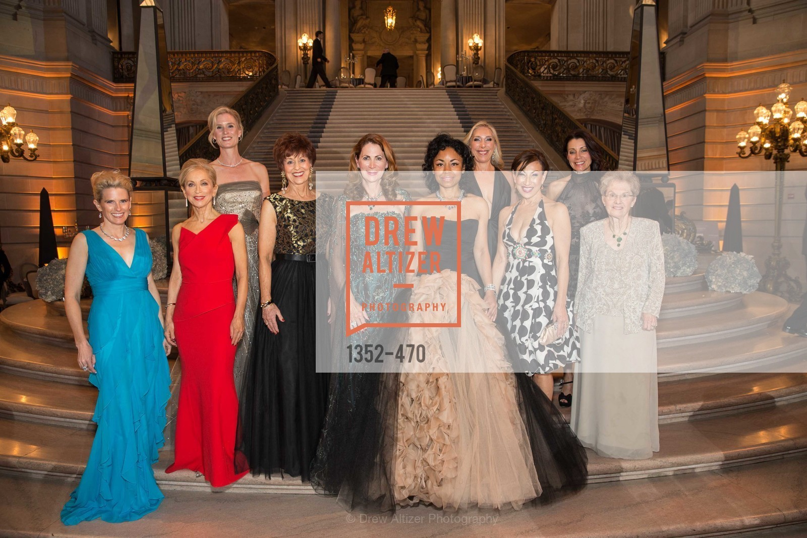 Marie Hurabiell, Shelley Gordon, Alison Mauze, Suzanne Thornton, Patricia Ferrin Loucks, Tanya Powell, Betsy Linder, Cathy Goodman, Debra Taylor, SAN FRANCISCO BALLET Opening Night Gala: PHENOMENAL - Arrivals, US. SF City Hall, January 22nd, 2014,Drew Altizer, Drew Altizer Photography, full-service event agency, private events, San Francisco photographer, photographer California