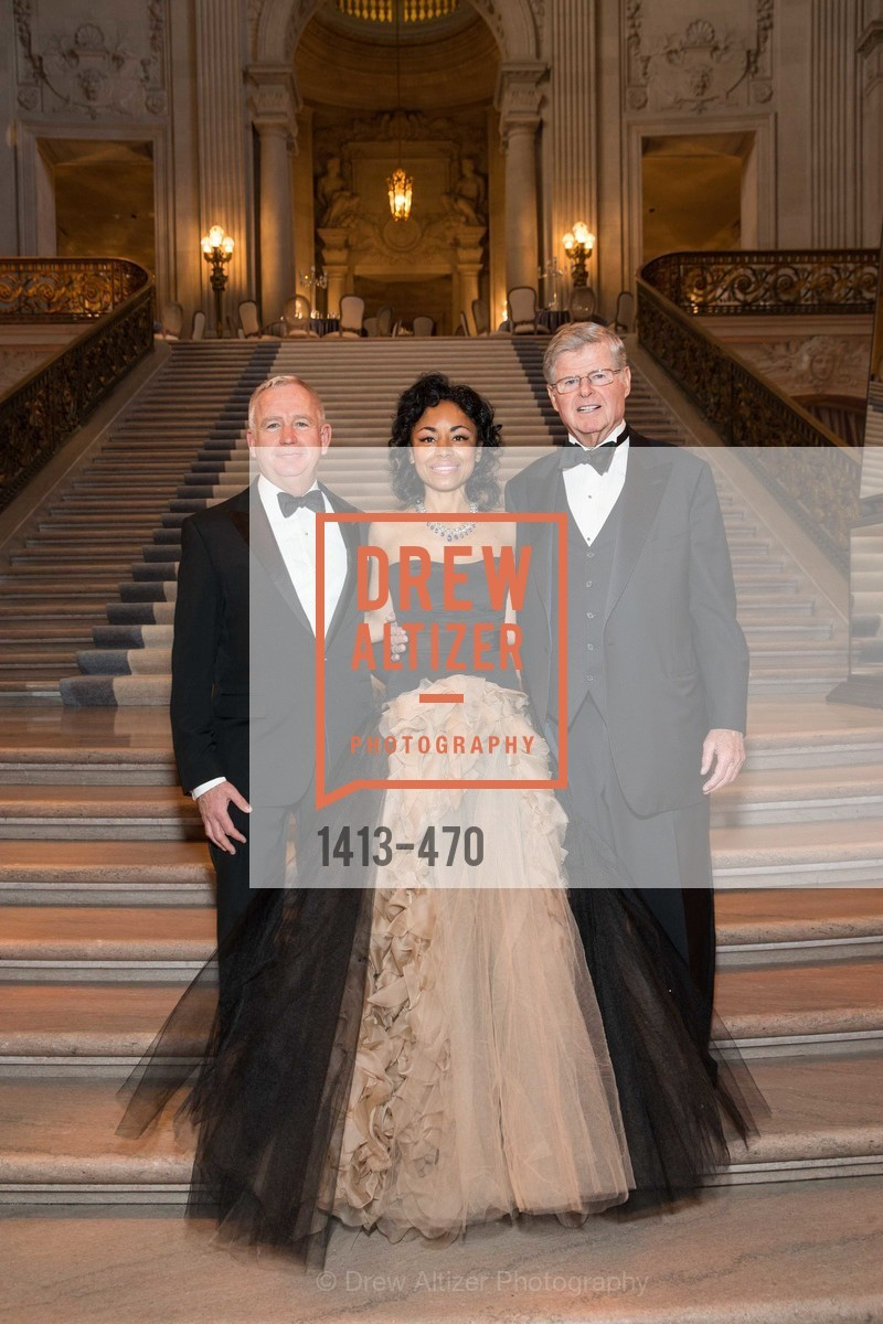 Glenn McCoy, Tanya Powell, Richard Barker, SAN FRANCISCO BALLET Opening Night Gala: PHENOMENAL - Arrivals, US. SF City Hall, January 22nd, 2014,Drew Altizer, Drew Altizer Photography, full-service agency, private events, San Francisco photographer, photographer california