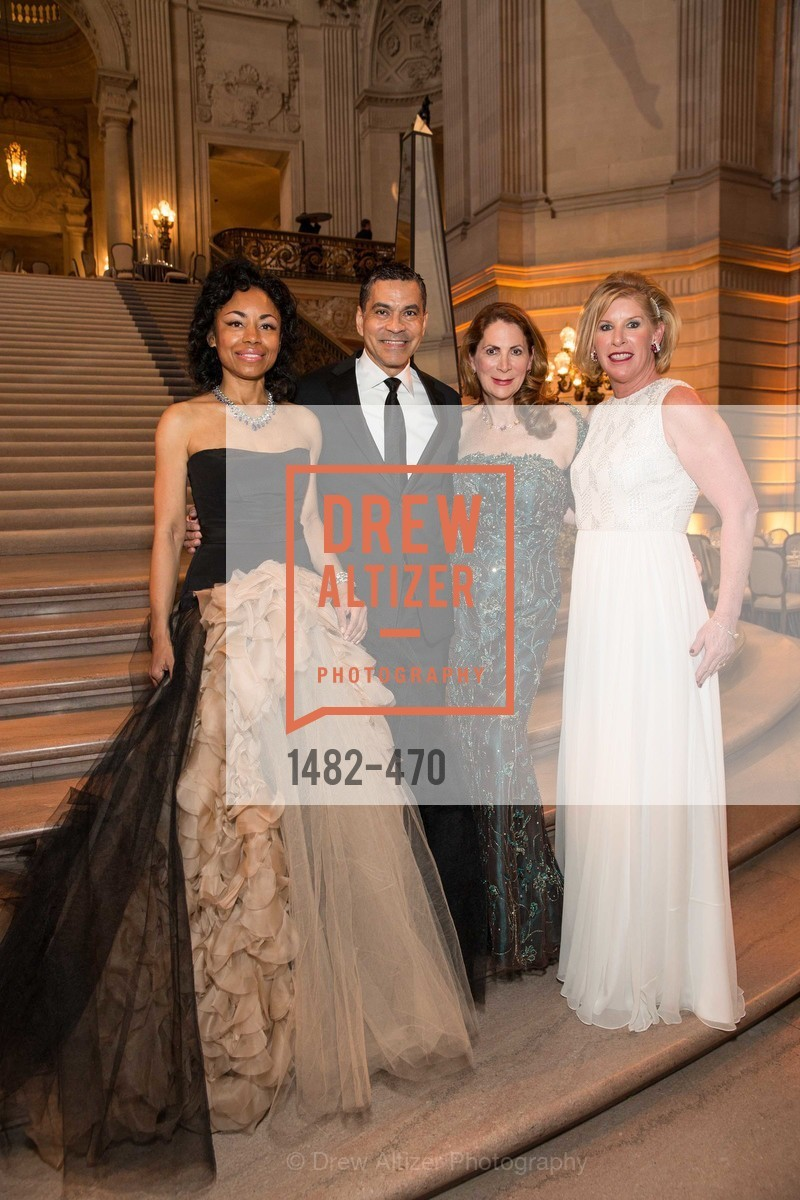 Tanya Powell, Daniel Diaz, Patricia Ferrin Loucks, Jennifer Brandenburg, SAN FRANCISCO BALLET Opening Night Gala: PHENOMENAL - Arrivals, US. SF City Hall, January 22nd, 2014,Drew Altizer, Drew Altizer Photography, full-service agency, private events, San Francisco photographer, photographer california