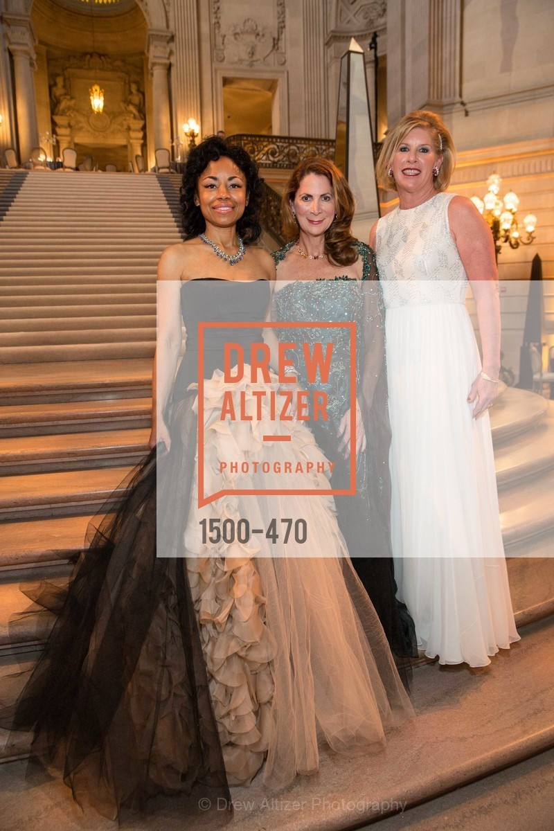 Tanya Powell, Patricia Ferrin Loucks, Jennifer Brandenburg, SAN FRANCISCO BALLET Opening Night Gala: PHENOMENAL - Arrivals, US. SF City Hall, January 22nd, 2014,Drew Altizer, Drew Altizer Photography, full-service agency, private events, San Francisco photographer, photographer california