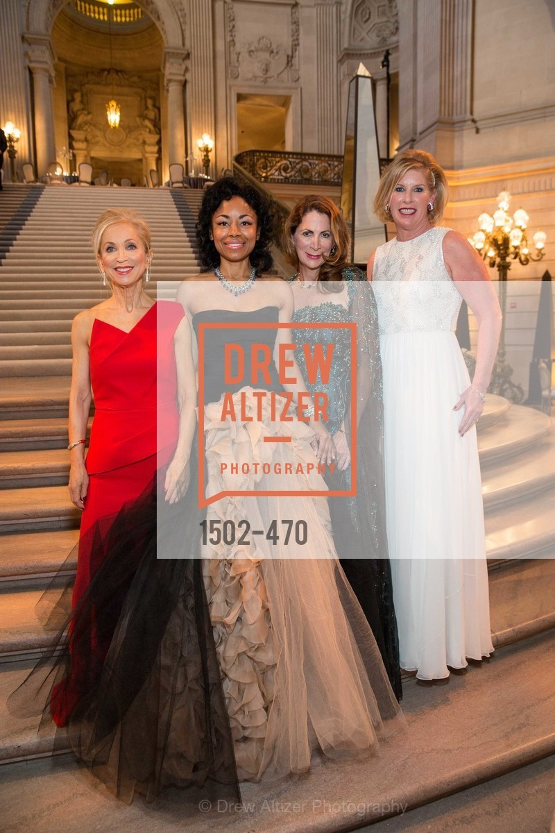 Shelley Gordon, Tanya Powell, Patricia Ferrin Loucks, Jennifer Brandenburg, SAN FRANCISCO BALLET Opening Night Gala: PHENOMENAL - Arrivals, US. SF City Hall, January 22nd, 2014,Drew Altizer, Drew Altizer Photography, full-service agency, private events, San Francisco photographer, photographer california