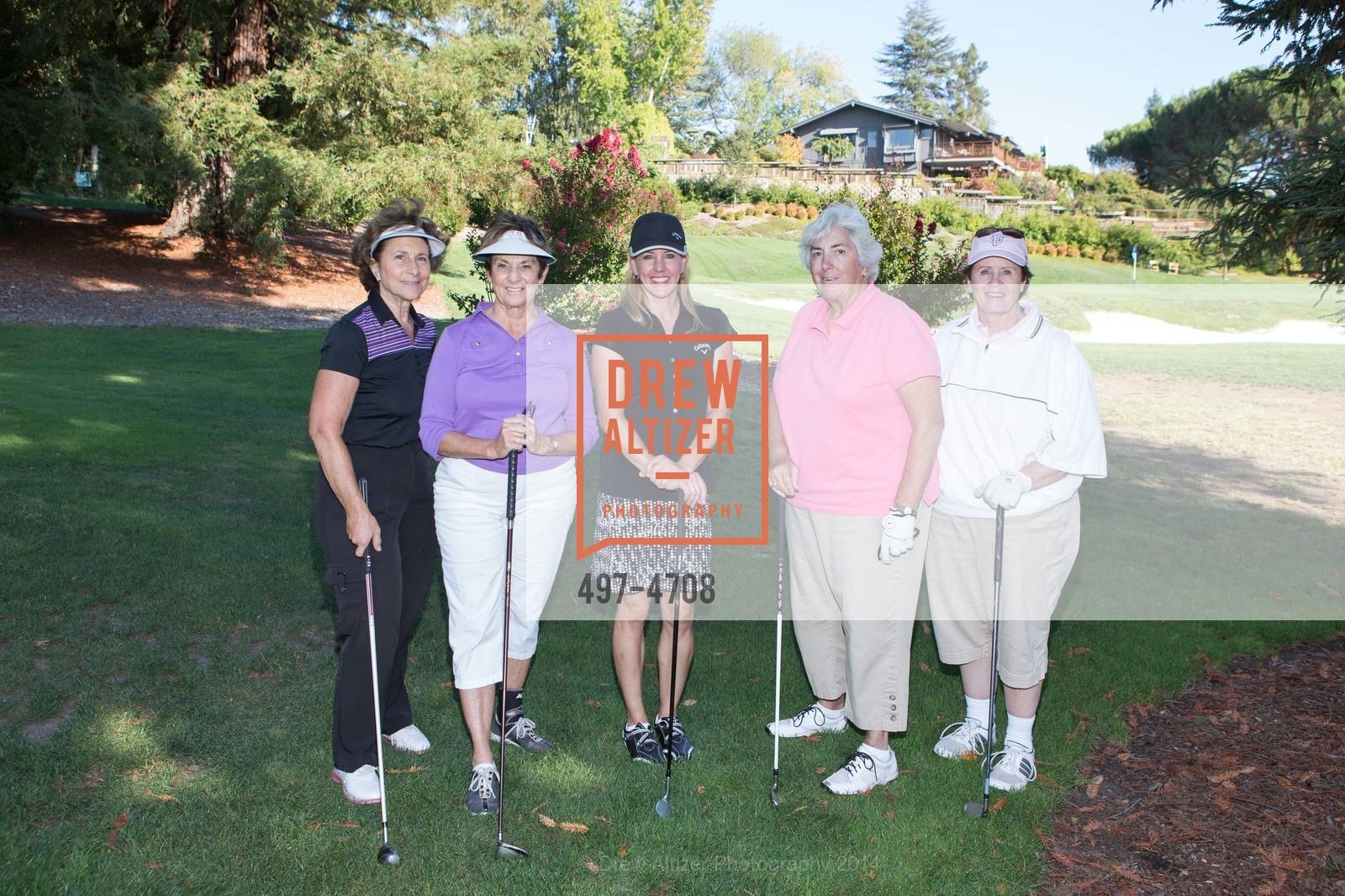 Sandy Klang, Gail Hynding, Tina Michelson, Virginia Andersen, Chris Goethals, Photo #497-4708