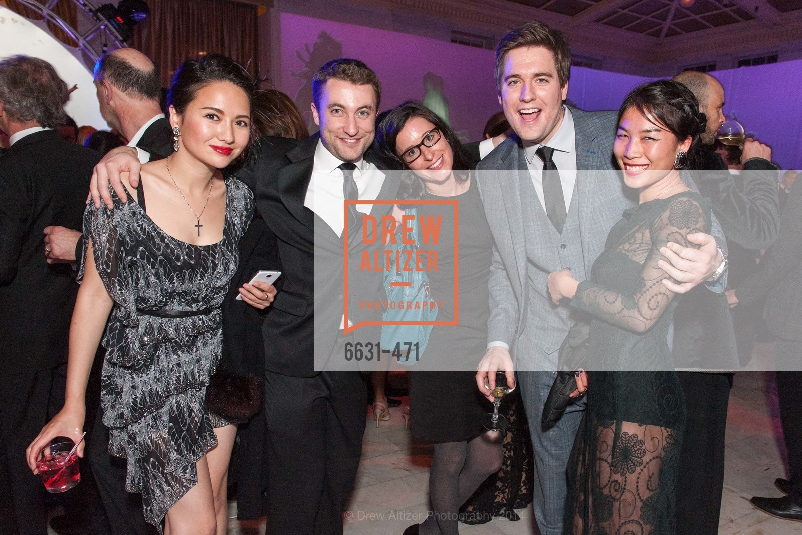 Mia Xu, James Ellott, David Fowler, Roxanne Lee, SAN FRANCISCO BALLET Opening Night Gala: PHENOMENAL - After Party, US. War memorial opera house, January 22nd, 2014,Drew Altizer, Drew Altizer Photography, full-service agency, private events, San Francisco photographer, photographer california