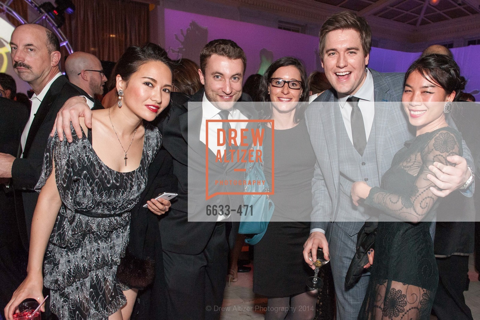 Mia Xu, James Ellott, David Fowler, Roxanne Lee, SAN FRANCISCO BALLET Opening Night Gala: PHENOMENAL - After Party, US. War memorial opera house, January 22nd, 2014,Drew Altizer, Drew Altizer Photography, full-service event agency, private events, San Francisco photographer, photographer California