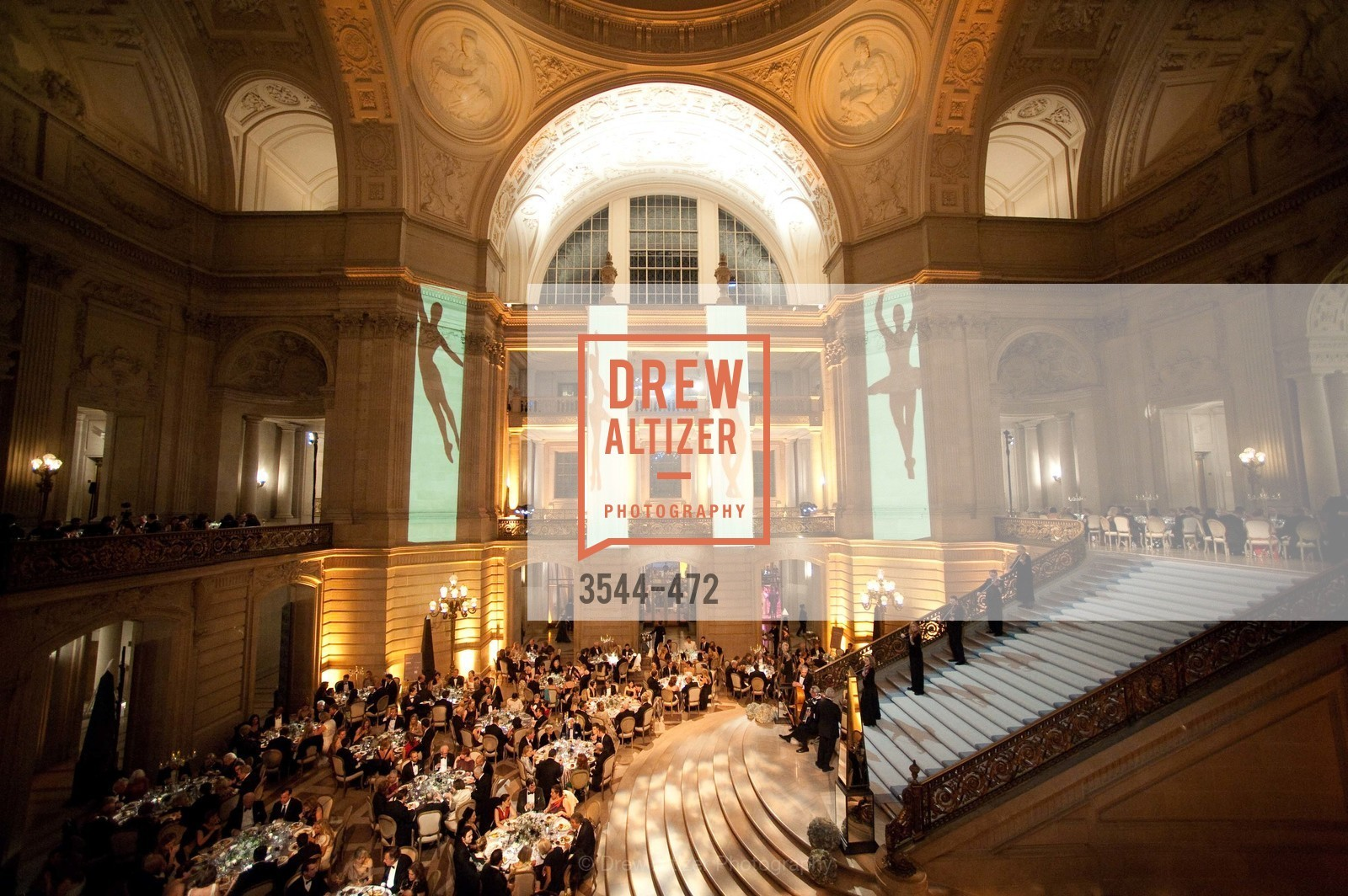 Atmosphere, SAN FRANCISCO BALLET Opening Night Gala: PHENOMENAL - Intermission & Dinner, US. SF City Hall, January 22nd, 2014,Drew Altizer, Drew Altizer Photography, full-service event agency, private events, San Francisco photographer, photographer California