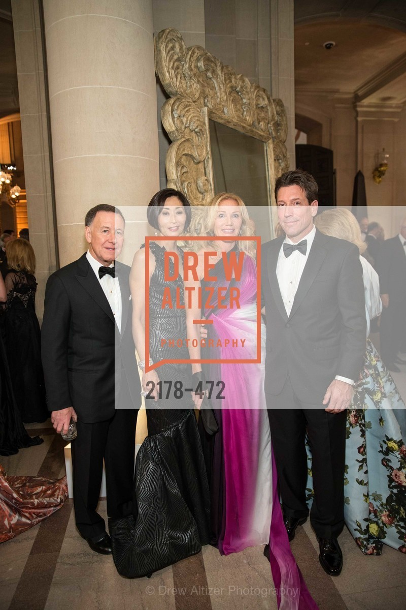Carl Pascarella, Yurie Pascarella, Rosemary Baker, Bill Yelle, SAN FRANCISCO BALLET Opening Night Gala: PHENOMENAL - Intermission & Dinner, US. SF City Hall, January 22nd, 2014,Drew Altizer, Drew Altizer Photography, full-service agency, private events, San Francisco photographer, photographer california