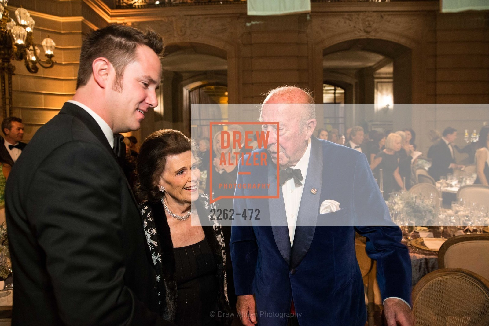 Drew Weyerhaeuser, Lucy Jewett, George Shultz, SAN FRANCISCO BALLET Opening Night Gala: PHENOMENAL - Intermission & Dinner, US. SF City Hall, January 22nd, 2014,Drew Altizer, Drew Altizer Photography, full-service event agency, private events, San Francisco photographer, photographer California