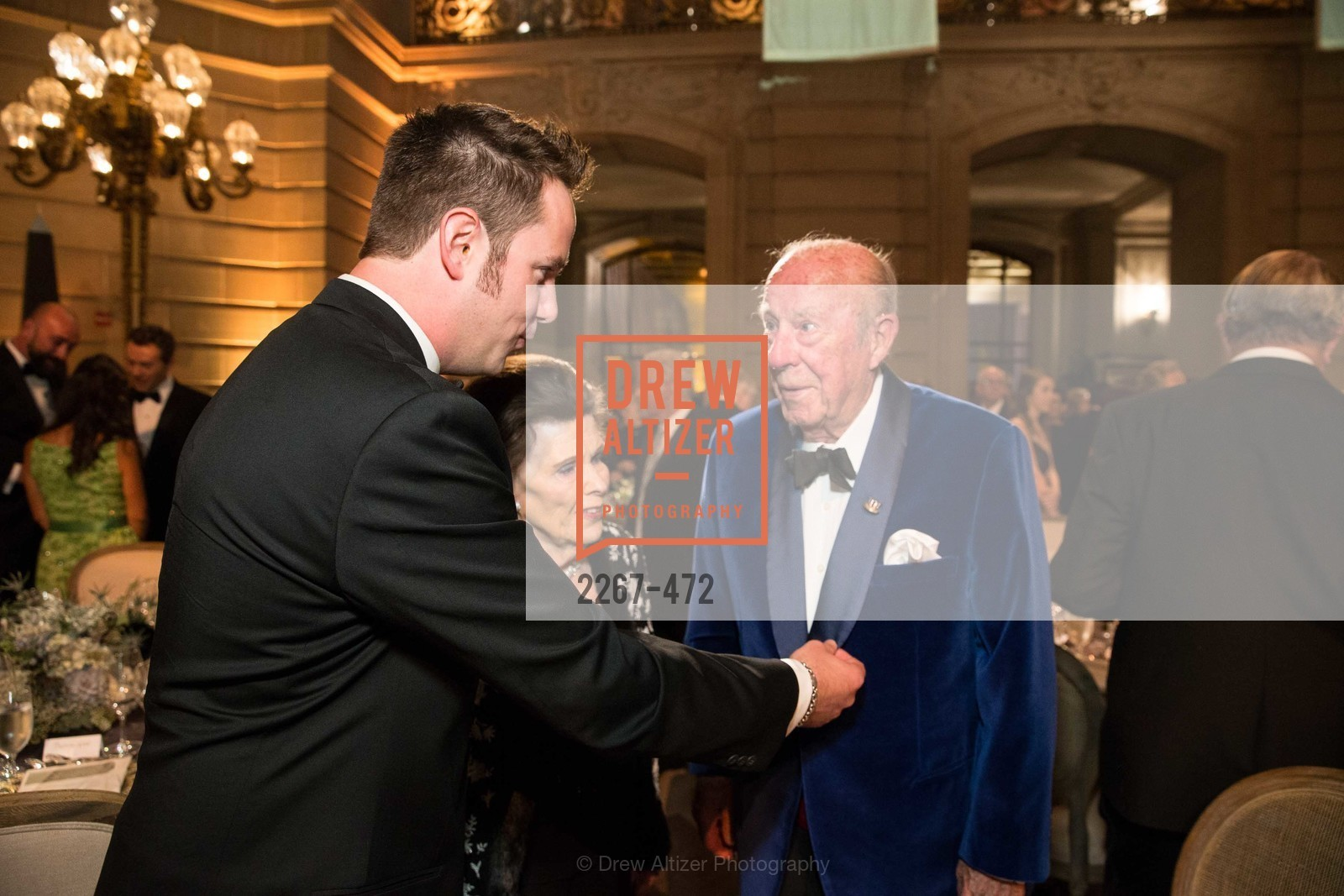 Drew Weyerhaeuser, Lucy Jewett, George Shultz, SAN FRANCISCO BALLET Opening Night Gala: PHENOMENAL - Intermission & Dinner, US. SF City Hall, January 22nd, 2014,Drew Altizer, Drew Altizer Photography, full-service agency, private events, San Francisco photographer, photographer california