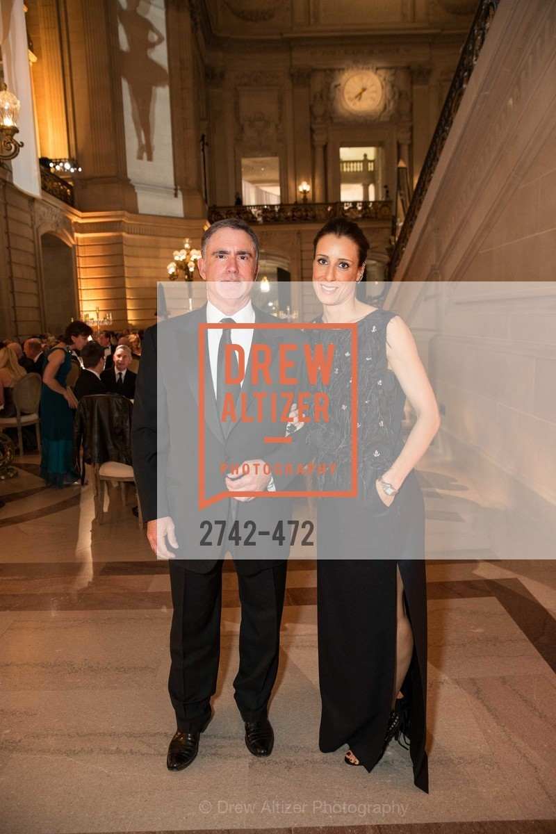 Phil Bronstein, Christine Bronstein, SAN FRANCISCO BALLET Opening Night Gala: PHENOMENAL - Intermission & Dinner, US. SF City Hall, January 22nd, 2014,Drew Altizer, Drew Altizer Photography, full-service agency, private events, San Francisco photographer, photographer california